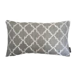 Jacquard Eden Silver Grey Long | 30 x 50 cm | Kussenhoes | Jacquard