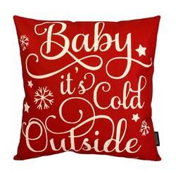 Baby It's Cold Outside | 45 x 45 cm | Kussenhoes | Linnen/Katoen