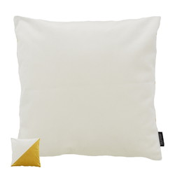 Velvet 2 Tone - Cream / Yellow | 45 x 45 cm | Kussenhoes | Polyester