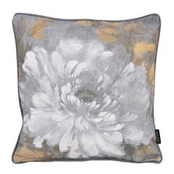 Jacquard Velvet White Flower | 45 x 45 cm | Kussenhoes | Velvet/Polyester