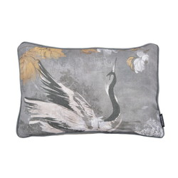 Jacquard Velvet Swan Long | 30 x 50 cm | Kussenhoes | Velvet/Polyester