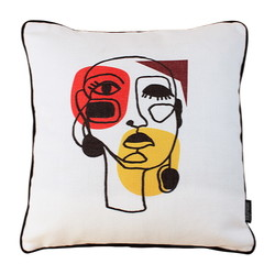 Jacquard Face Abstract | 45 x 45 cm | Kussenhoes | Jacquard