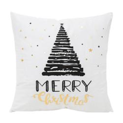 Black Christmas Tree | 45 x 45 cm | Kussenhoes | Katoen/Polyester