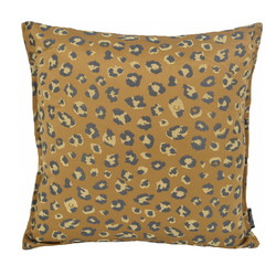 Jacquard Leopard Gold / Brown   45 x 45 cm   Kussenhoes   Polyester
