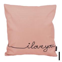 I Love You | 45 x 45 cm | Kussenhoes | Linnen/Katoen