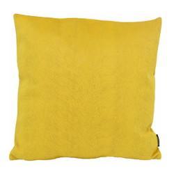 Fox Velvet Geel   45 x 45 cm   Kussenhoes   Acryl / Polyester