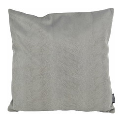 Fox Velvet Grijs   45 x 45 cm   Kussenhoes   Acryl / Polyester