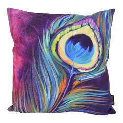 Colorful Peacock / Pauw | 45 x 45 cm | Kussenhoes | Katoen/Polyester
