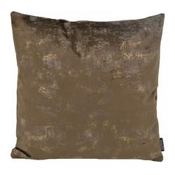 Flo Gold Velvet Bruin  | 45 x 45 cm | Kussenhoes | Polyester