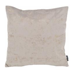 Flo Gold Velvet Grijs | 45 x 45 cm | Kussenhoes | Polyester