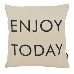 Enjoy Today  | 45 x 45 cm | Kussenhoes | Linnen/Katoen