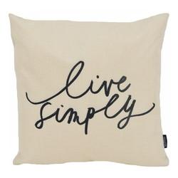 Live Simply  | 45 x 45 cm | Kussenhoes | Linnen/Katoen