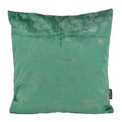 Flo Gold Velvet Groen | 45 x 45 cm | Kussenhoes | Polyester