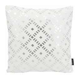 Dido Silver / White | 45 x 45 cm | Kussenhoes | Katoen