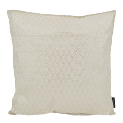 Hila Silver / White | 45 x 45 cm | Kussenhoes | Polyester