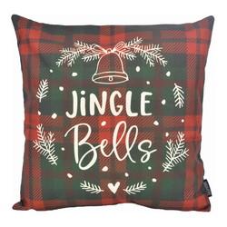 Jingle Bells   45 x 45 cm   Kussenhoes   Katoen/Linnen