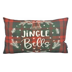 Jingle Bells Long   30 x 50 cm   Kussenhoes   Katoen/Linnen