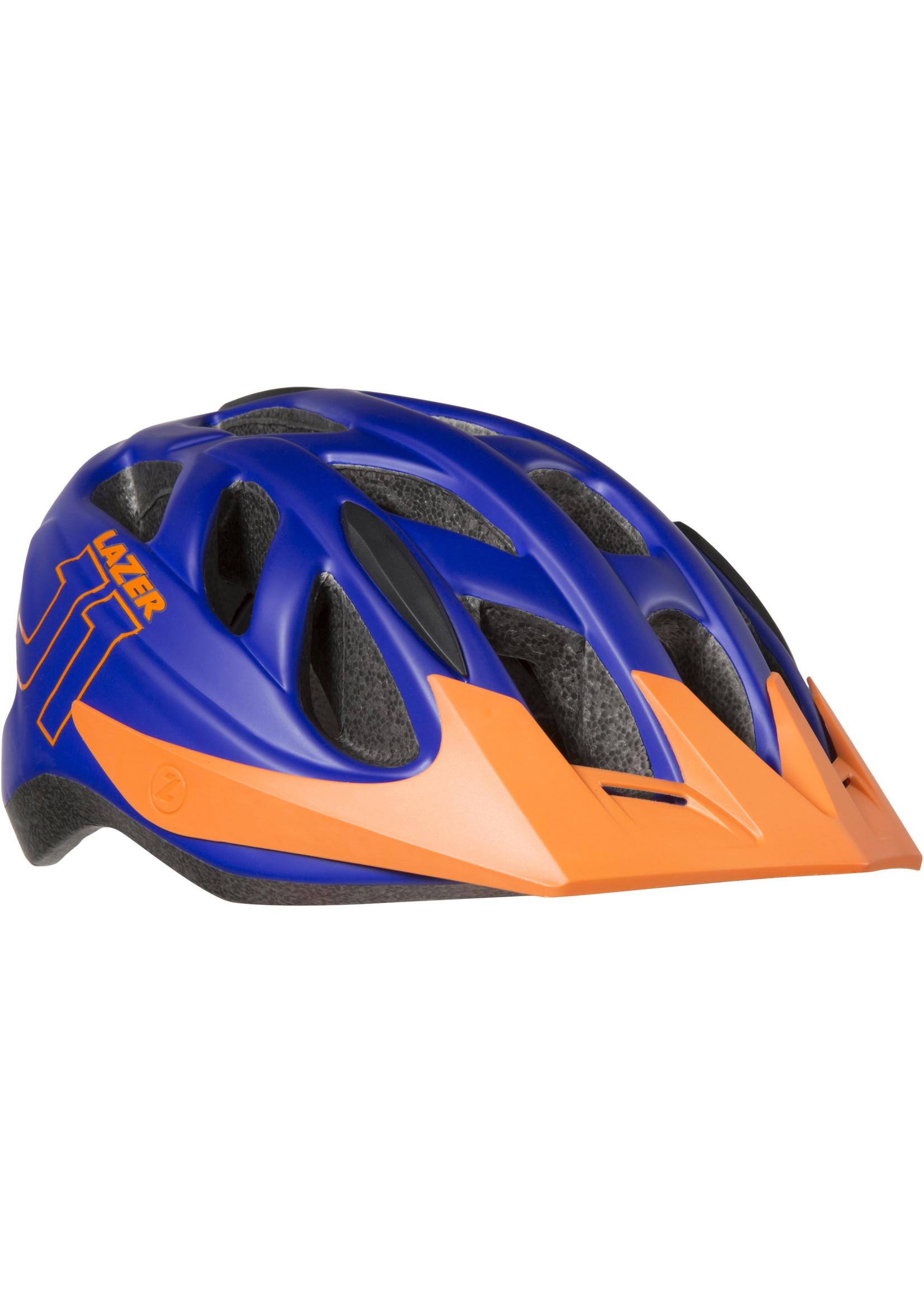 Lazer J1 Helmet, Blue/Orange, Uni-Youth