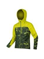 Endura SingleTrack Waterproof Jkt, Lime Green: M