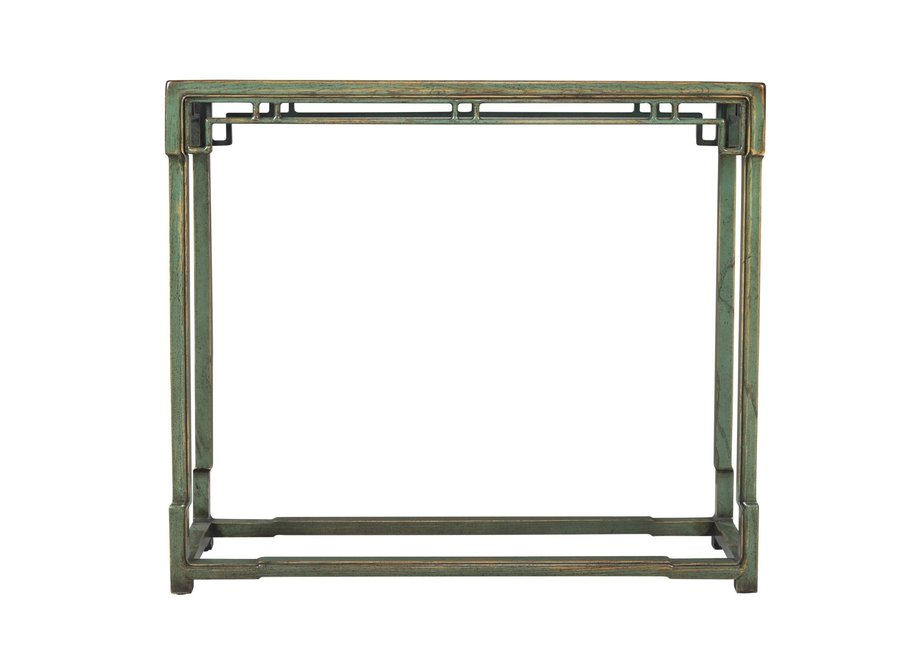 Fine Asianliving Chinese Console Table Green Porcelain Top W98xD33xH89cm