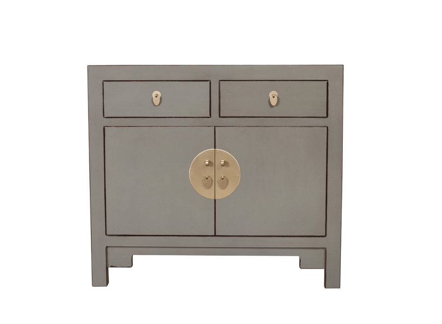 Chinese Cabinet Olive Grey - Orientique Collection W90xD40xH80cm