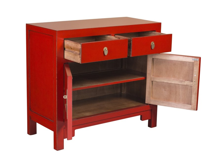 Fine Asianliving Chinese Cabinet Lucky Red - Orientique Collection W90xD40xH80cm
