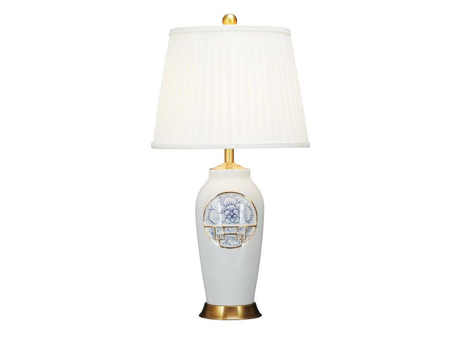 Chinesische Tischlampe Modern Lotus D42xH81cm