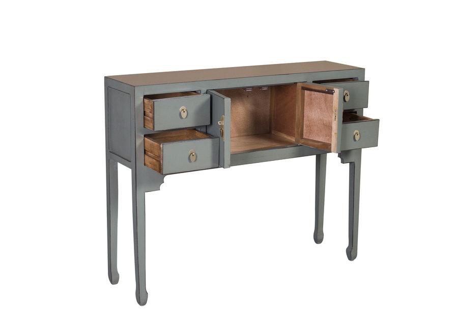 Fine Asianliving Chinesischer Konsolentisch Beistelltisch Olive Grau - Orientique Sammlung B100xT26xH80cm