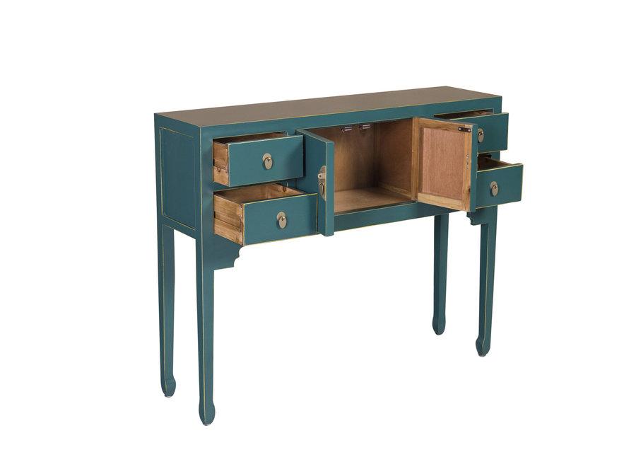 Fine Asianliving Chinesischer Konsolentisch Beistelltisch Jade Blau - Orientique Sammlung B100xT26xH80cm