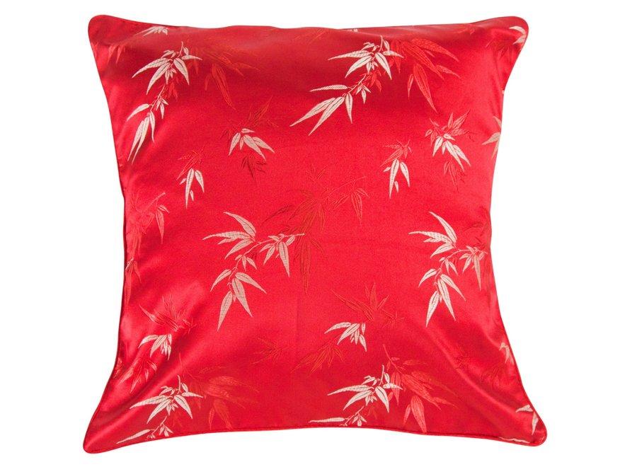 Fine Asianliving Kissenbezug Rot Bambus 45x45cm ohne Füllung