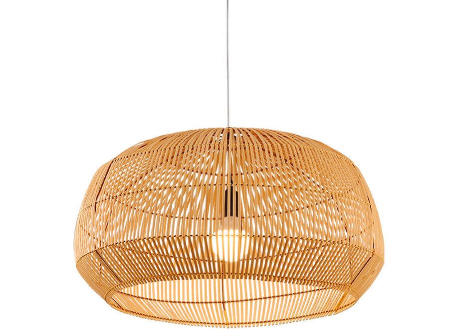 Fine Asianliving Lampe Bambus Webbing Handgefertigt - Ariel D73xH40cm