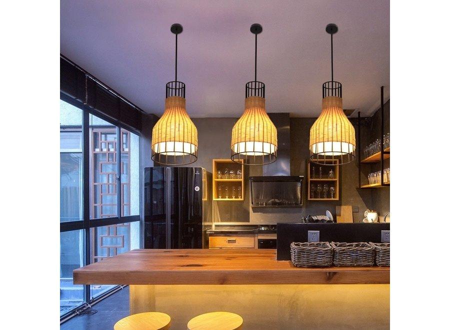 Fine Asianliving Lampe Industrielle Bambus - Xiron D20xH35cm