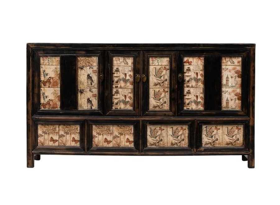 Antikes Chinesisches Sideboard Kommode B157xT39xH86cm