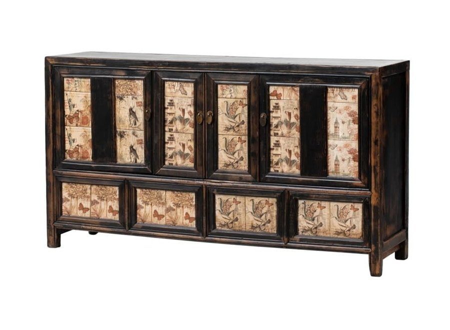 Fine Asianliving Antikes Chinesisches Sideboard Kommode B157xT39xH86cm