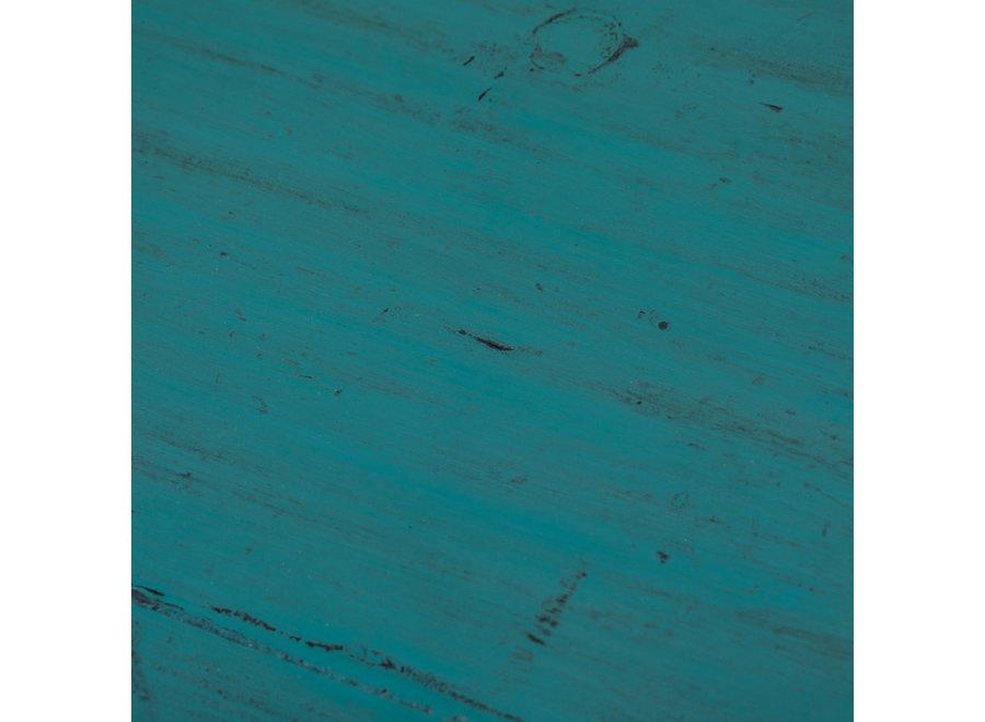 Fine Asianliving Antiker Chinesischer Schrank Glänzend Teal B77xT39xH92cm