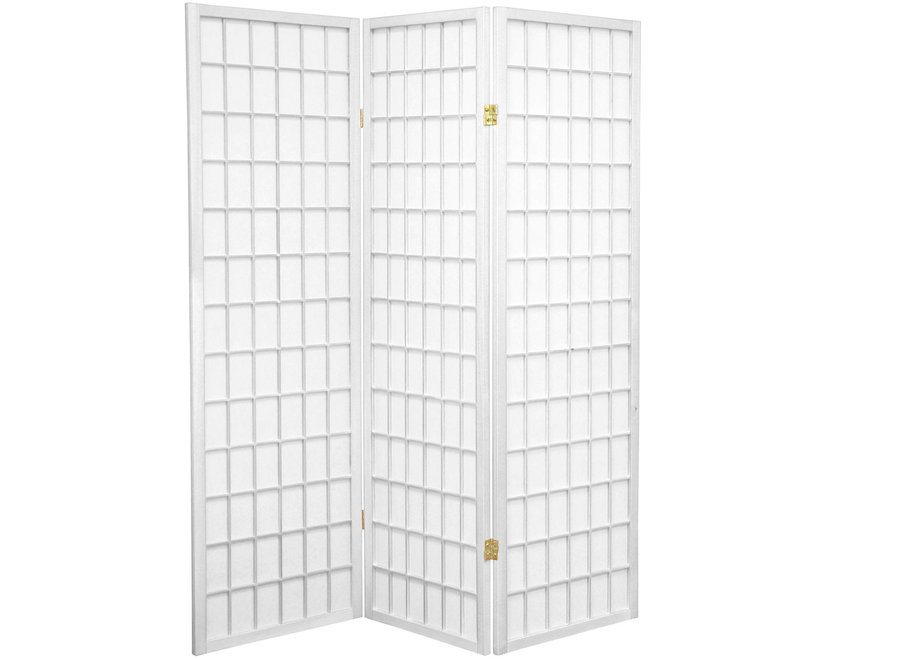 Fine Asianliving Japanese Room Divider 3 Panels W135xH180cm Privacy Screen Shoji Rice-paper White - Tana