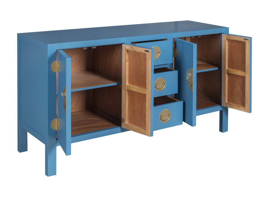 Fine Asianliving Chinesisches Sideboard Kommode Himmelblau - Orientique Sammlung B160xT50xH90cm