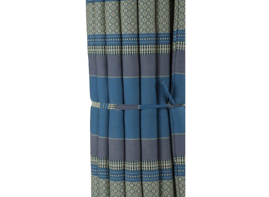 Fine Asianliving Thaimatte Rollbar Kapokfüllung 200x100x4.5cm Himmelblau