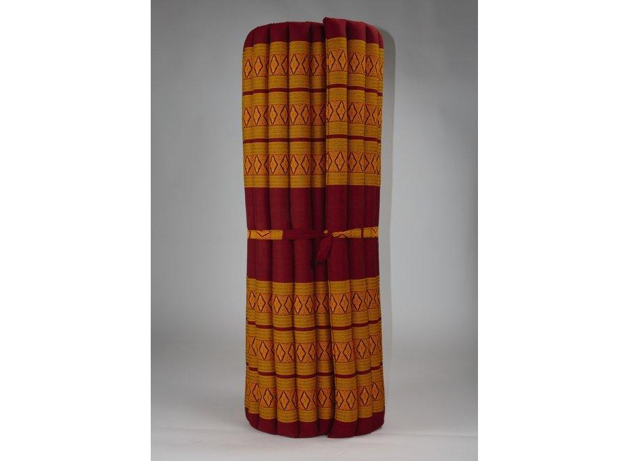 Fine Asianliving Thaimatte Rollbar Kapokfüllung 200x100x4.5cm orange