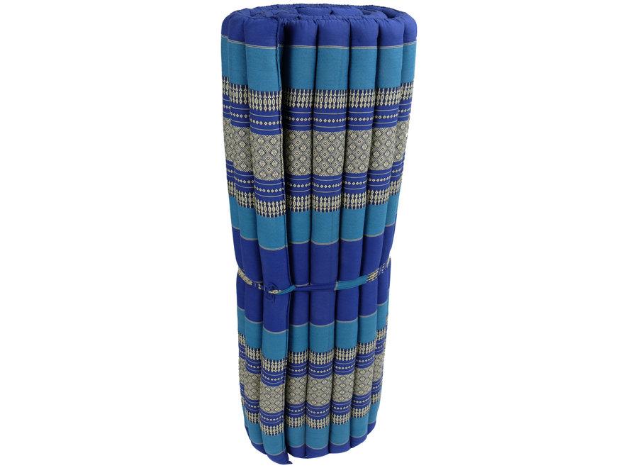 Thaimatte Rollbar Kapokfüllung 200x100x4.5cm Blau
