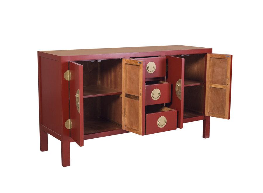 Fine Asianliving Chinesisches Sideboard Kommode Rubinrot - Orientique Sammlung B160xT50xH90cm