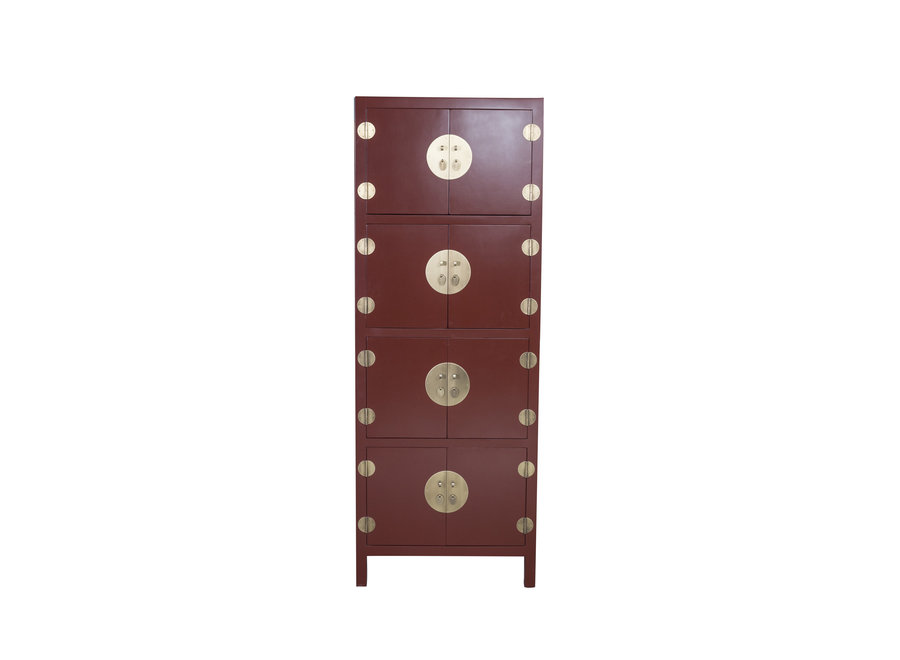 Chinese Cabinet Scarlet Rouge W67xD45xH180cm - Orientique Collection
