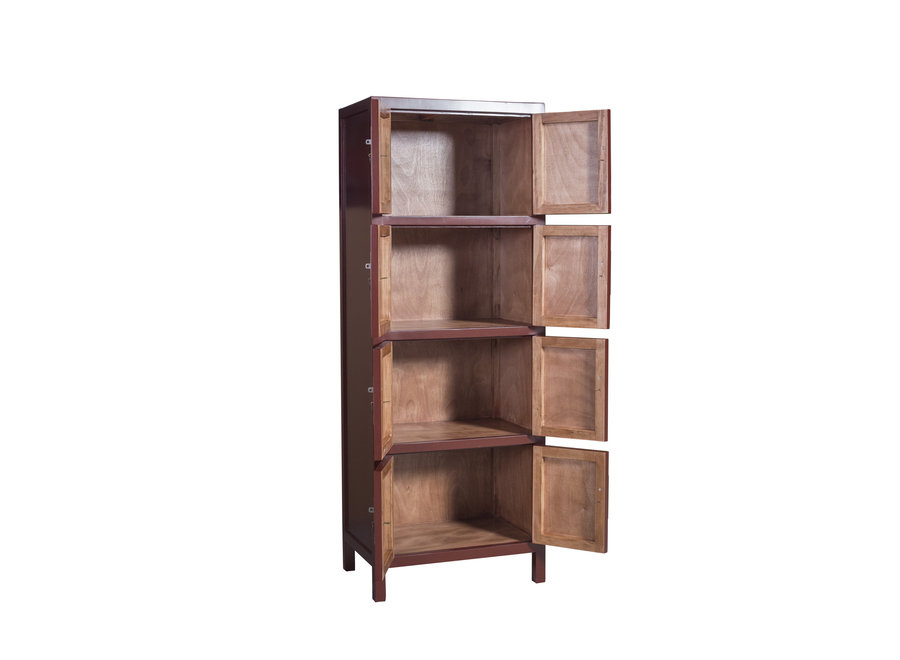 Fine Asianliving Chinese Cabinet Scarlet Rouge W67xD45xH180cm - Orientique Collection