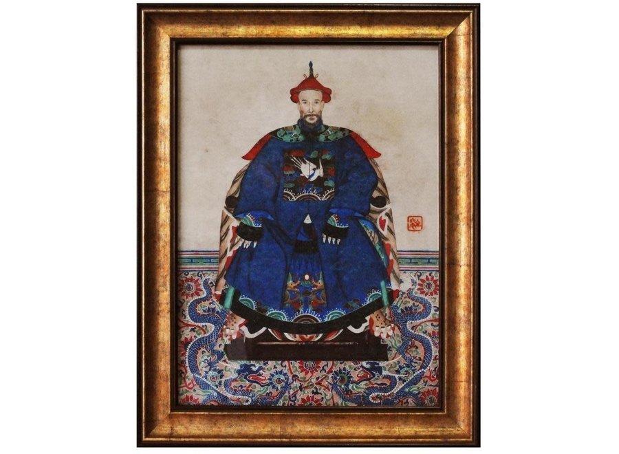 Chinese Ancestor Portrait Painting W50xH60cm Glicee Handmade