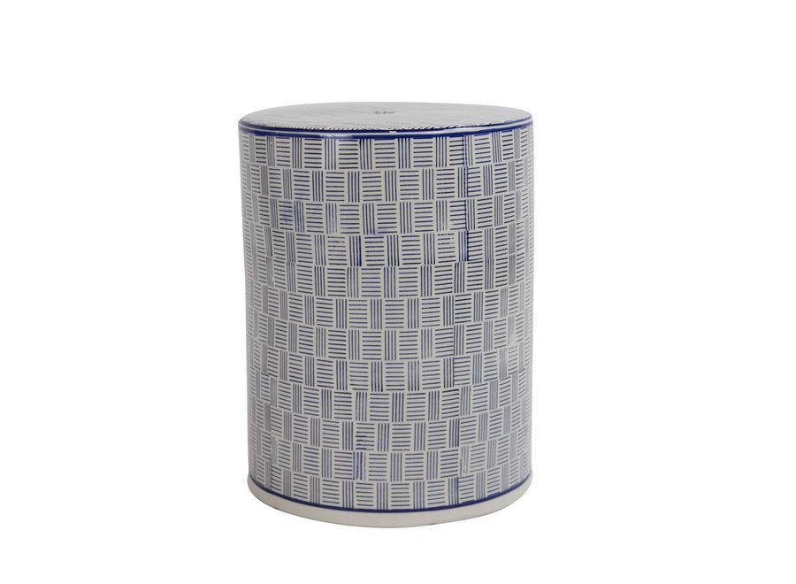 Ceramic Garden Stool Chinese Porcelain Handmade D33xH46cm