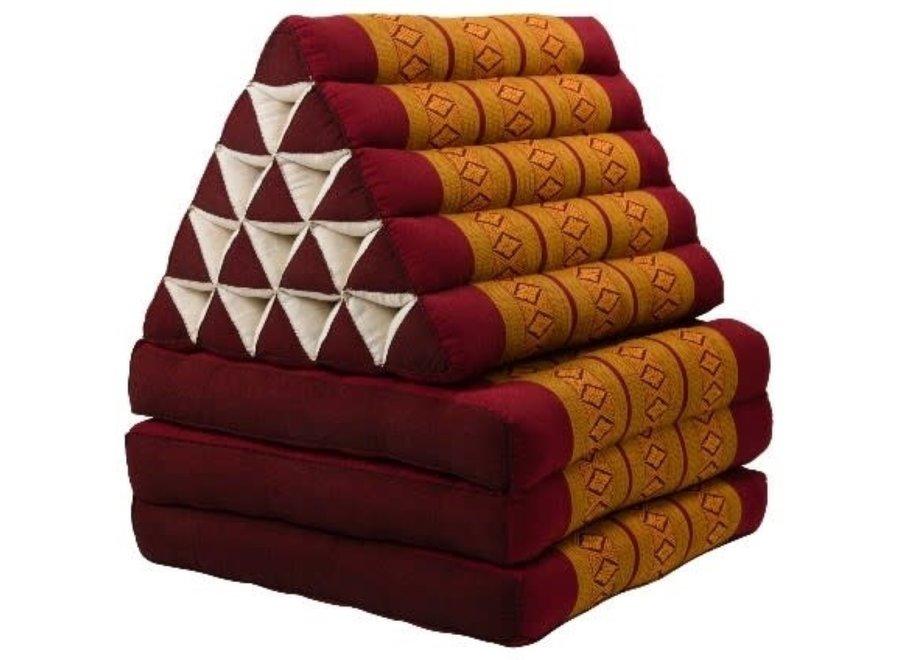 Thaikissen Dreieckskissen 3 Auflagen Kapokfüllung XL Thai Orange
