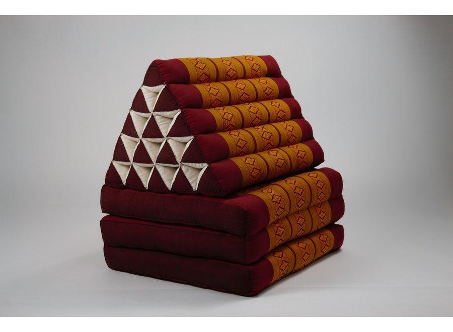 Fine Asianliving Thaikissen Dreieckskissen 3 Auflagen Kapokfüllung XL Thai Orange
