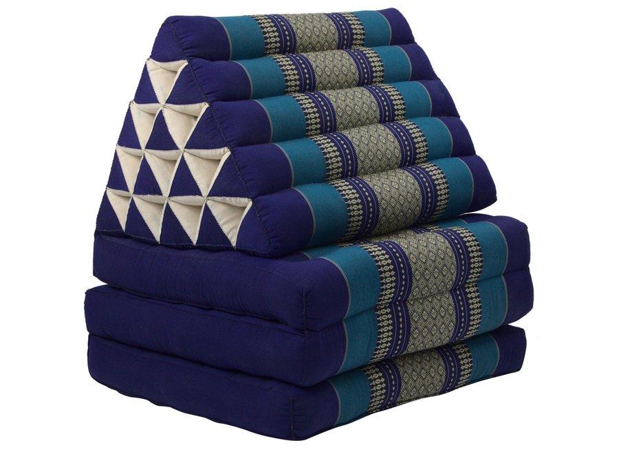 Fine Asianliving Thaikissen Dreieckskissen 3 Auflagen Kapokfüllung XL Meerblau