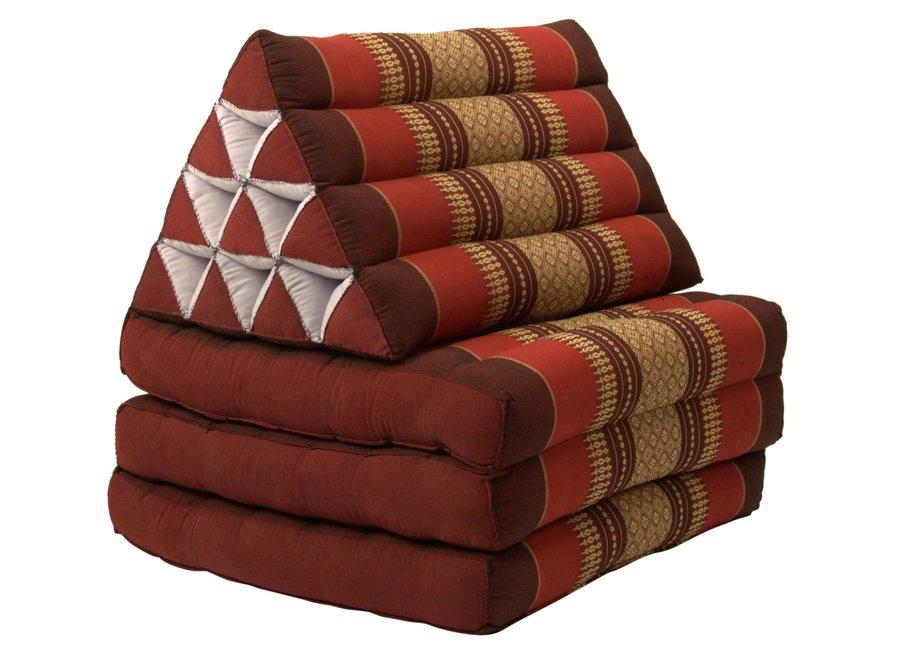 Thai Kissen mit Dreieck-Kissen 3 Auflagen Falt-Matratze Boden-Liege-Matte Sitzkissen Thaimatte Kapok 180cm