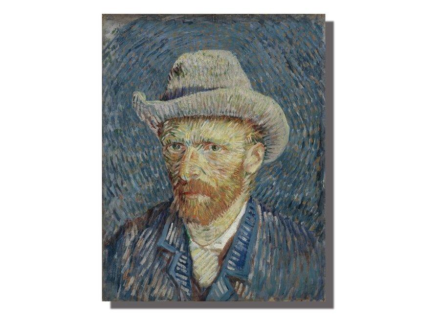 Fine Asianliving Wall Art Canvas Print 70x90cm Portrait van Gogh Hand Embellished Giclee Handmade